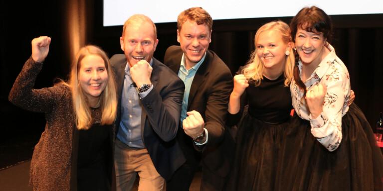 """På bild de nominerade till priset """"Årets unga företagare"""" på Umeågalan 2018 och pitchade under Young Startup Day förra året."""
