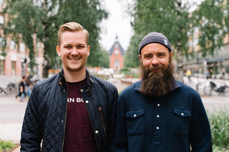 På bild från vänster: Ivan Fischer och Emil Westrin från 84 Grams.