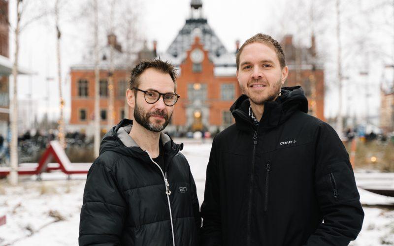 Från vänster; Johan Ek och Roberth Jonsson, Zatisfy Foto: STP Media AB